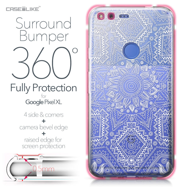 Google Pixel XL case Indian Line Art 2061 Bumper Case Protection | CASEiLIKE.com