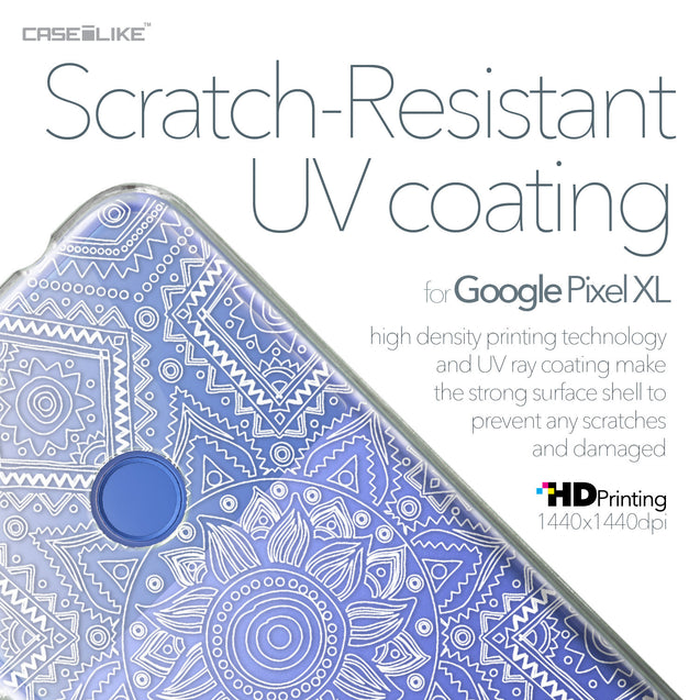 Google Pixel XL case Indian Line Art 2061 with UV-Coating Scratch-Resistant Case | CASEiLIKE.com