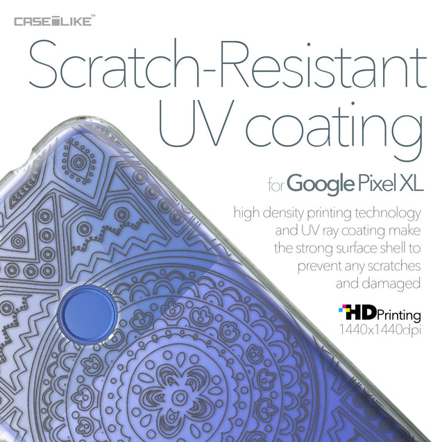 Google Pixel XL case Indian Line Art 2063 with UV-Coating Scratch-Resistant Case | CASEiLIKE.com