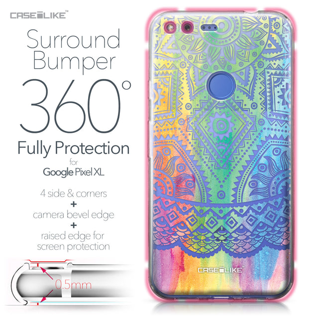Google Pixel XL case Indian Line Art 2064 Bumper Case Protection | CASEiLIKE.com