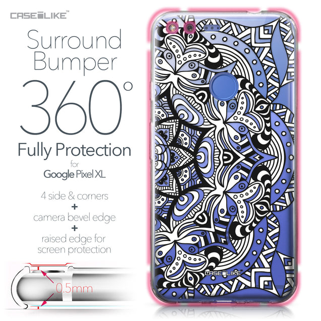 Google Pixel XL case Mandala Art 2096 Bumper Case Protection | CASEiLIKE.com