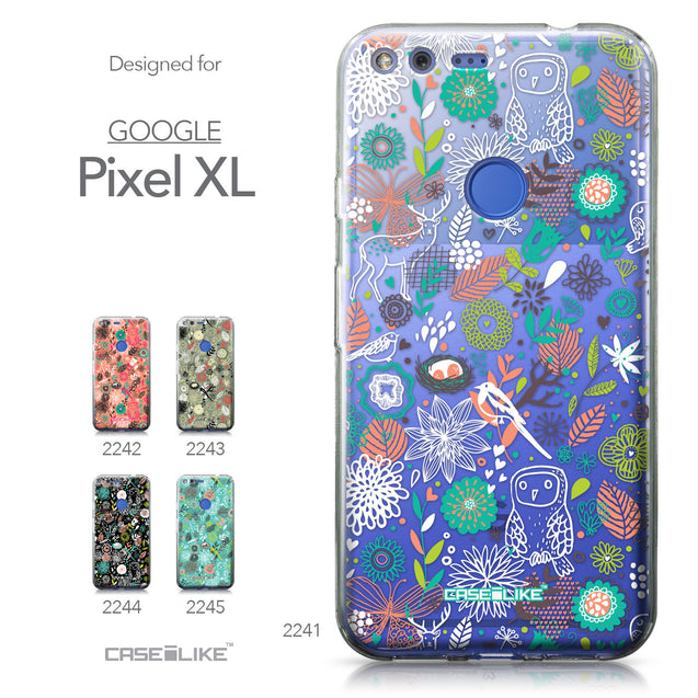 Google Pixel XL case Spring Forest White 2241 Collection | CASEiLIKE.com