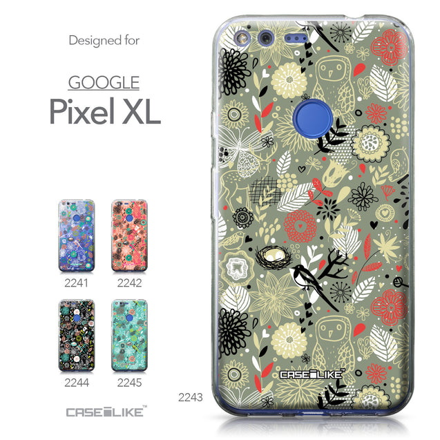 Google Pixel XL case Spring Forest Gray 2243 Collection | CASEiLIKE.com