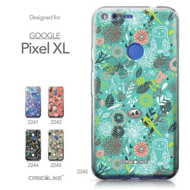 Google Pixel XL case Spring Forest Turquoise 2245 Collection | CASEiLIKE.com