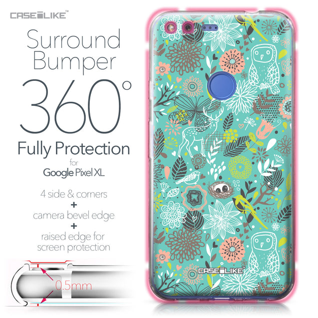 Google Pixel XL case Spring Forest Turquoise 2245 Bumper Case Protection | CASEiLIKE.com
