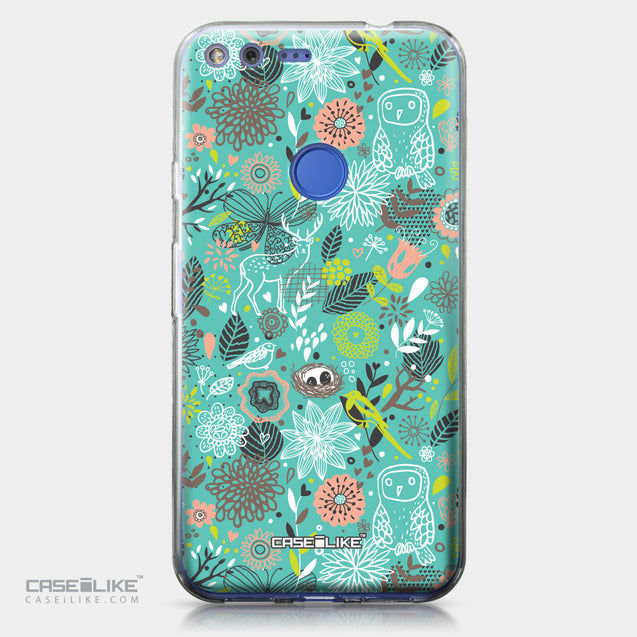 Google Pixel XL case Spring Forest Turquoise 2245 | CASEiLIKE.com