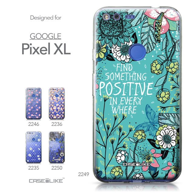 Google Pixel XL case Blooming Flowers Turquoise 2249 Collection | CASEiLIKE.com