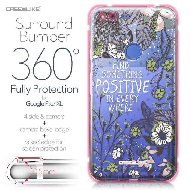 Google Pixel XL case Blooming Flowers 2250 Bumper Case Protection | CASEiLIKE.com