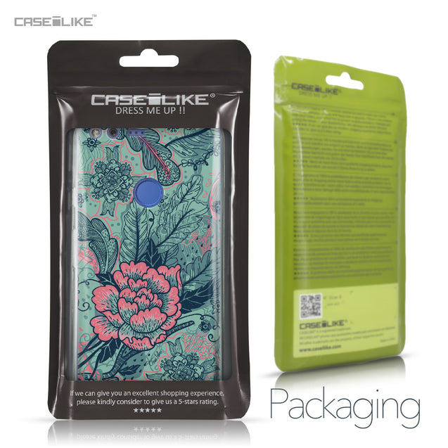Google Pixel XL case Vintage Roses and Feathers Turquoise 2253 Retail Packaging | CASEiLIKE.com