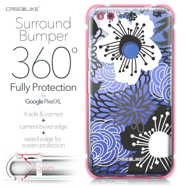 Google Pixel XL case Japanese Floral 2256 Bumper Case Protection | CASEiLIKE.com