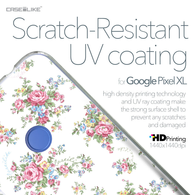 Google Pixel XL case Floral Rose Classic 2260 with UV-Coating Scratch-Resistant Case | CASEiLIKE.com
