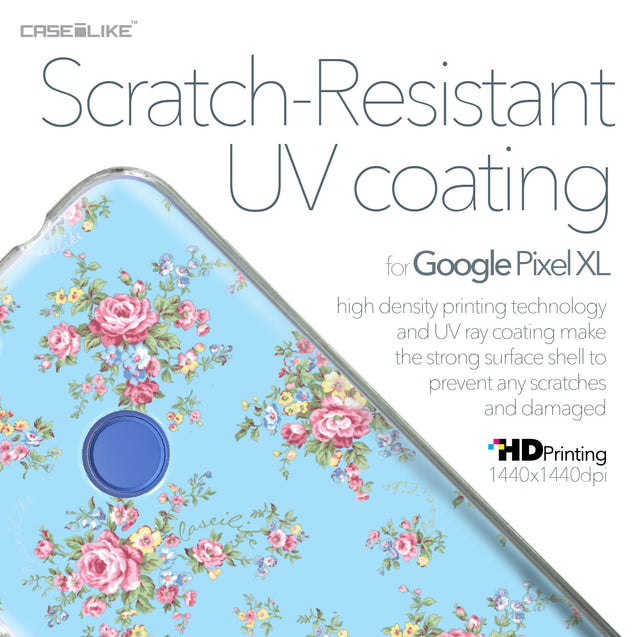 Google Pixel XL case Floral Rose Classic 2263 with UV-Coating Scratch-Resistant Case | CASEiLIKE.com