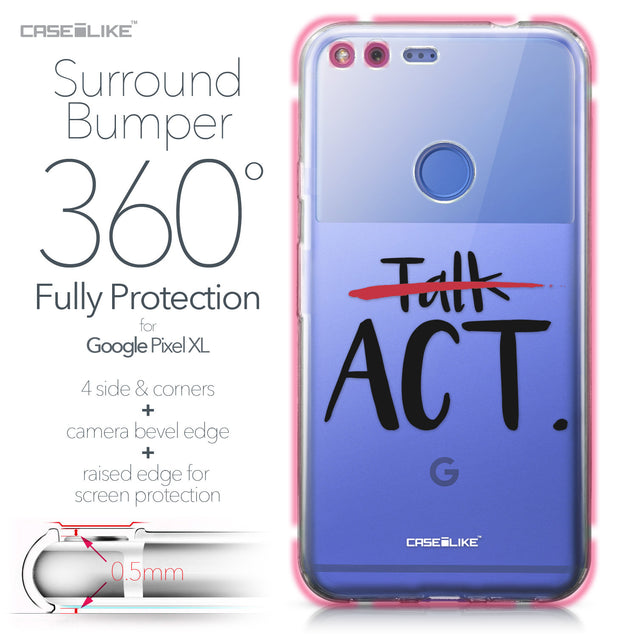 Google Pixel XL case Quote 2408 Bumper Case Protection | CASEiLIKE.com