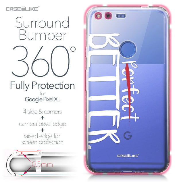 Google Pixel XL case Quote 2410 Bumper Case Protection | CASEiLIKE.com