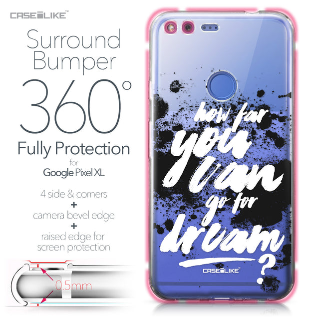 Google Pixel XL case Quote 2413 Bumper Case Protection | CASEiLIKE.com