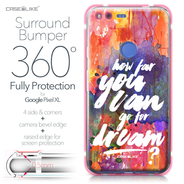Google Pixel XL case Quote 2421 Bumper Case Protection | CASEiLIKE.com