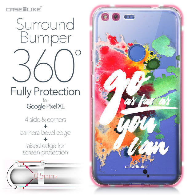 Google Pixel XL case Quote 2424 Bumper Case Protection | CASEiLIKE.com