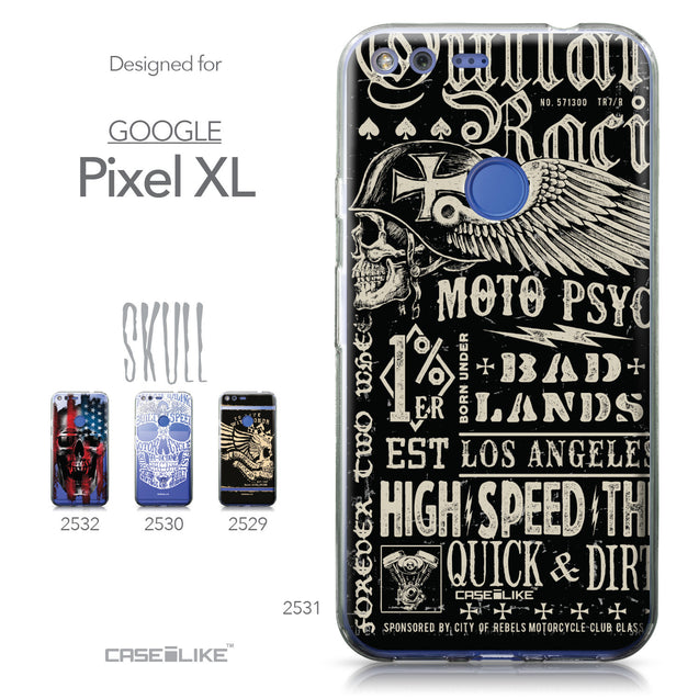 Google Pixel XL case Art of Skull 2531 Collection | CASEiLIKE.com