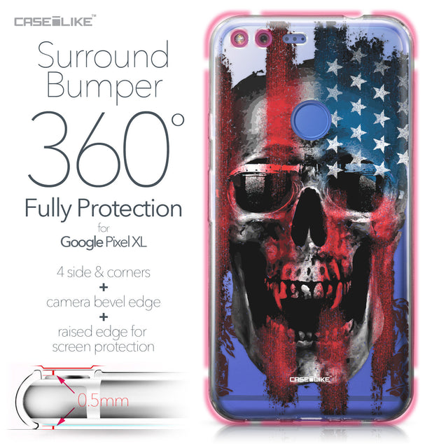 Google Pixel XL case Art of Skull 2532 Bumper Case Protection | CASEiLIKE.com
