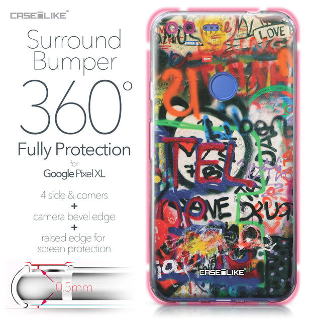 Google Pixel XL case Graffiti 2721 Bumper Case Protection | CASEiLIKE.com
