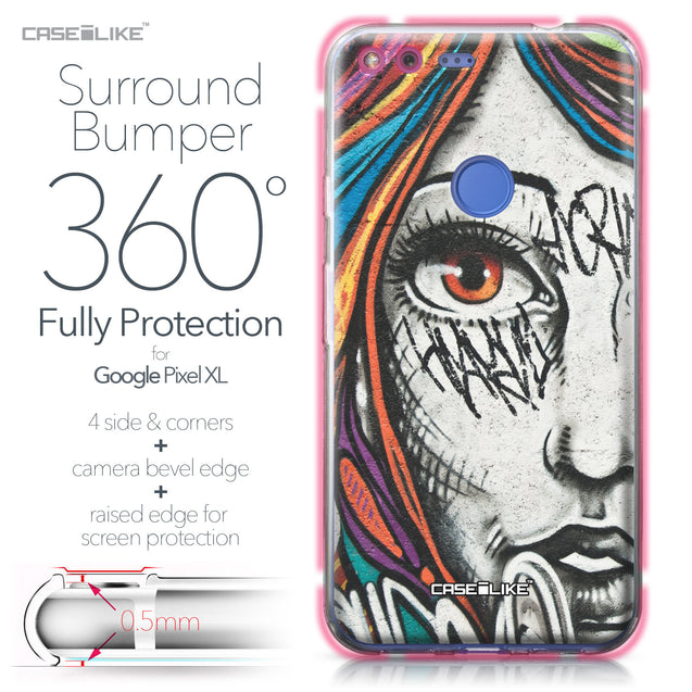 Google Pixel XL case Graffiti Girl 2724 Bumper Case Protection | CASEiLIKE.com