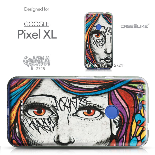 Google Pixel XL case Graffiti Girl 2725 Collection | CASEiLIKE.com