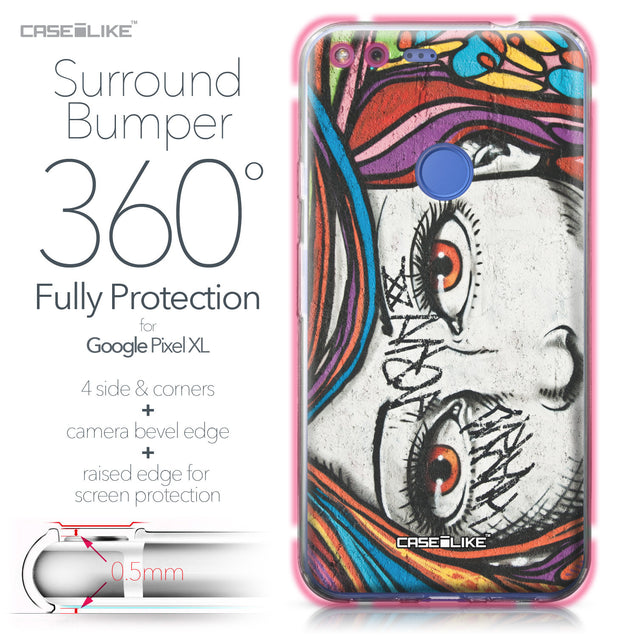 Google Pixel XL case Graffiti Girl 2725 Bumper Case Protection | CASEiLIKE.com