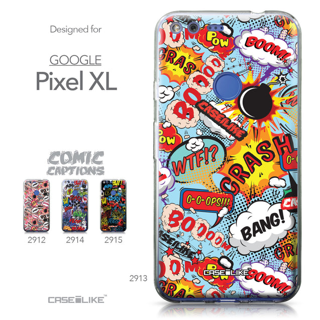 Google Pixel XL case Comic Captions Blue 2913 Collection | CASEiLIKE.com