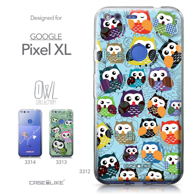 Google Pixel XL case Owl Graphic Design 3312 Collection | CASEiLIKE.com