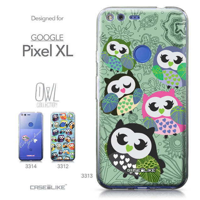 Google Pixel XL case Owl Graphic Design 3313 Collection | CASEiLIKE.com