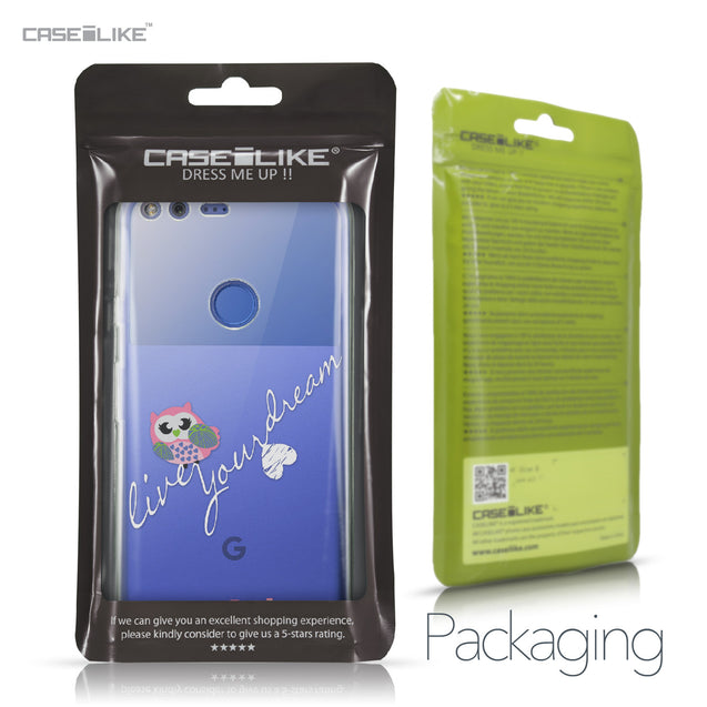 Google Pixel XL case Owl Graphic Design 3314 Retail Packaging | CASEiLIKE.com