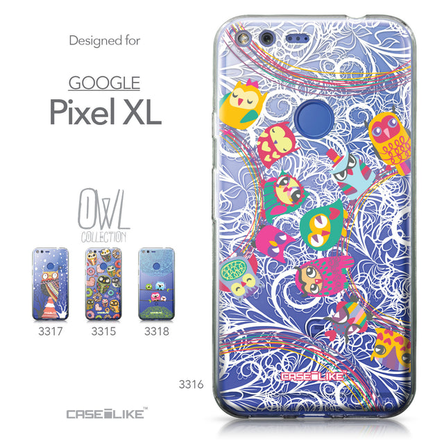 Google Pixel XL case Owl Graphic Design 3316 Collection | CASEiLIKE.com