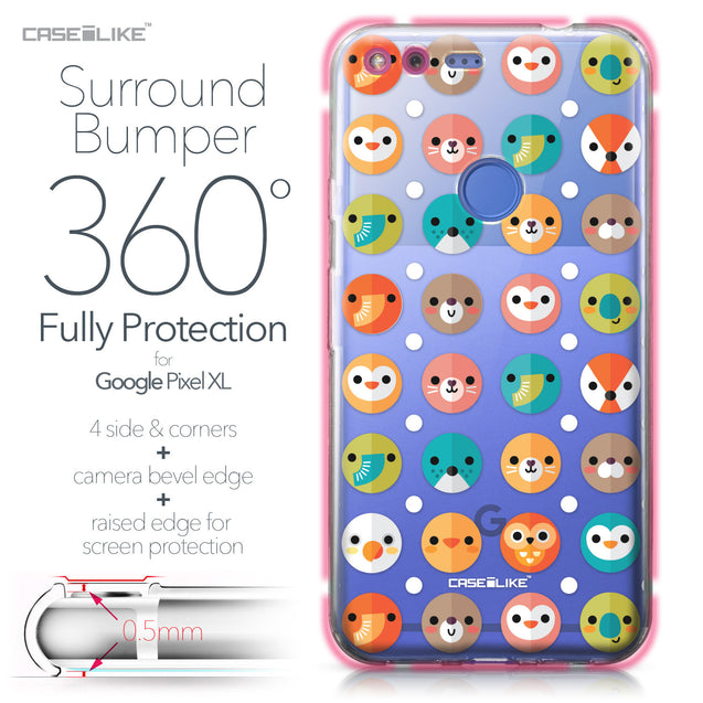 Google Pixel XL case Animal Cartoon 3638 Bumper Case Protection | CASEiLIKE.com