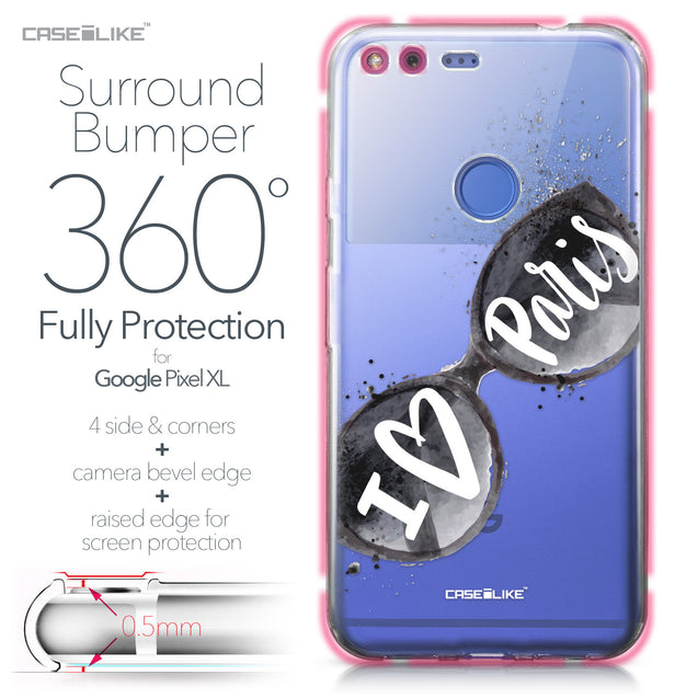 Google Pixel XL case Paris Holiday 3911 Bumper Case Protection | CASEiLIKE.com