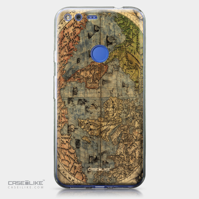 Google Pixel XL case World Map Vintage 4608 | CASEiLIKE.com