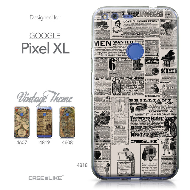 Google Pixel XL case Vintage Newspaper Advertising 4818 Collection | CASEiLIKE.com