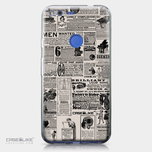 Google Pixel XL case Vintage Newspaper Advertising 4818 | CASEiLIKE.com