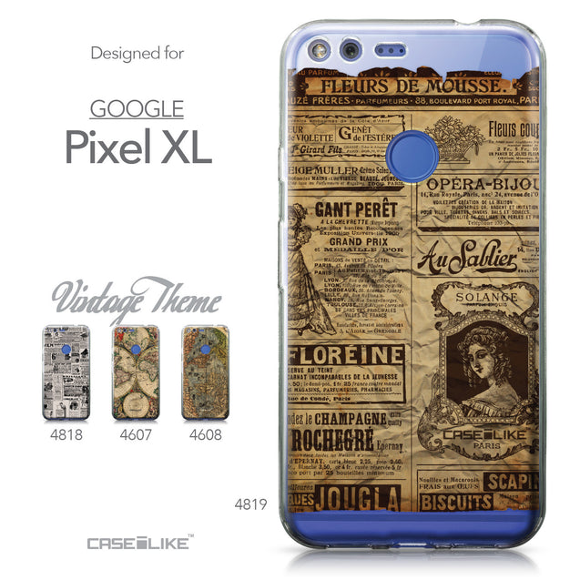 Google Pixel XL case Vintage Newspaper Advertising 4819 Collection | CASEiLIKE.com