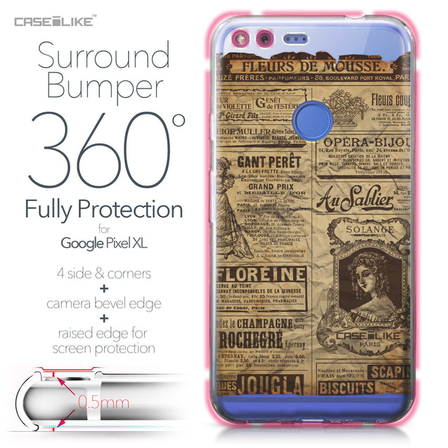 Google Pixel XL case Vintage Newspaper Advertising 4819 Bumper Case Protection | CASEiLIKE.com