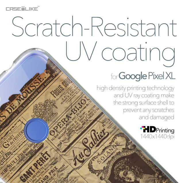 Google Pixel XL case Vintage Newspaper Advertising 4819 with UV-Coating Scratch-Resistant Case | CASEiLIKE.com