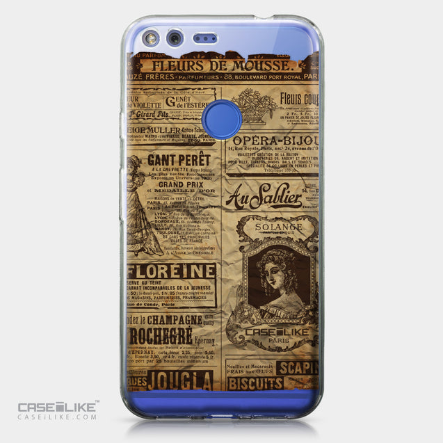 Google Pixel XL case Vintage Newspaper Advertising 4819 | CASEiLIKE.com