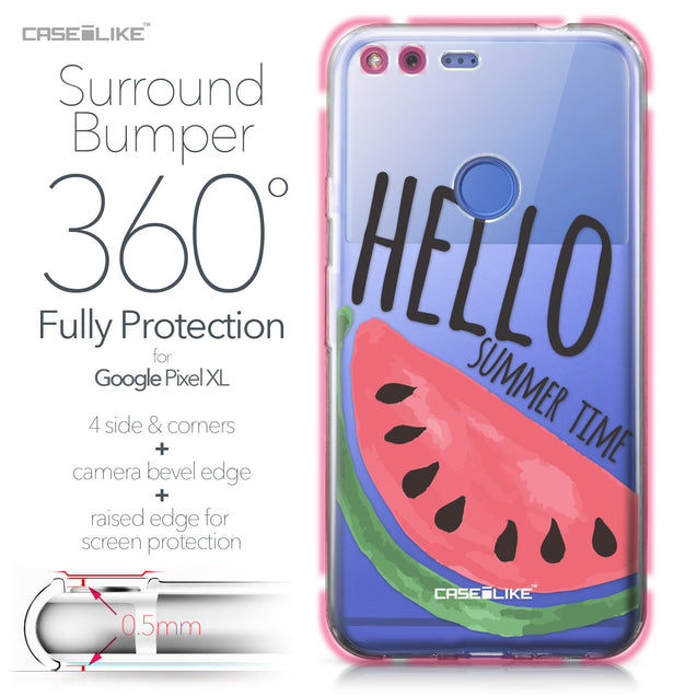 Google Pixel XL case Water Melon 4821 Bumper Case Protection | CASEiLIKE.com