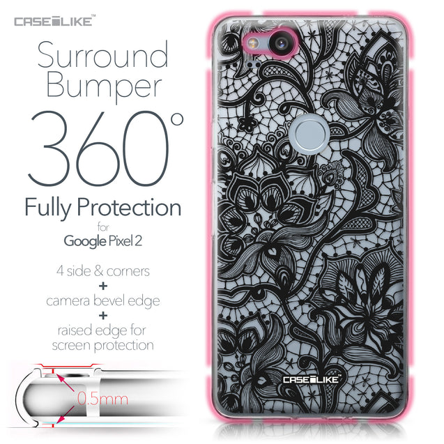 Google Pixel 2 case Lace 2037 Bumper Case Protection | CASEiLIKE.com