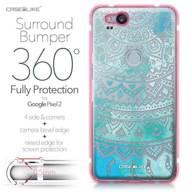 Google Pixel 2 case Indian Line Art 2066 Bumper Case Protection | CASEiLIKE.com