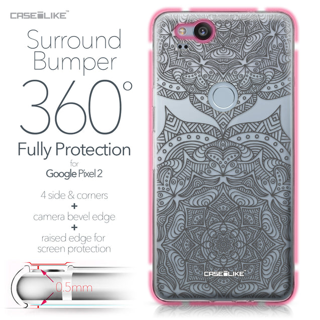 Google Pixel 2 case Mandala Art 2304 Bumper Case Protection | CASEiLIKE.com