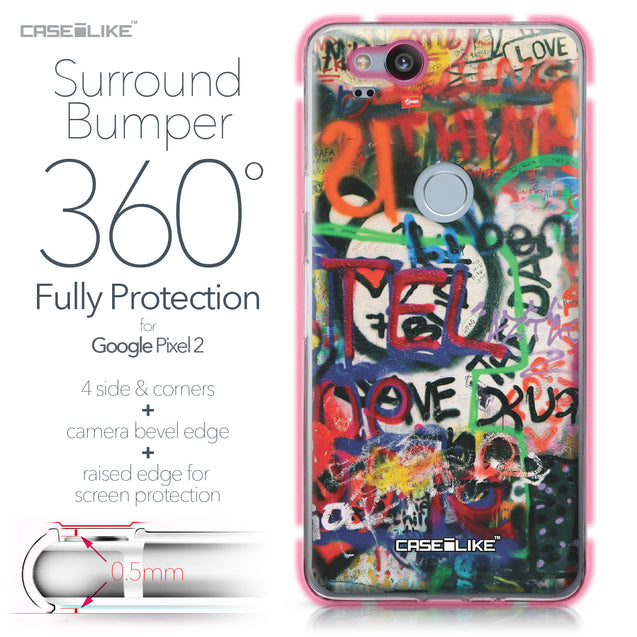 Google Pixel 2 case Graffiti 2721 Bumper Case Protection | CASEiLIKE.com