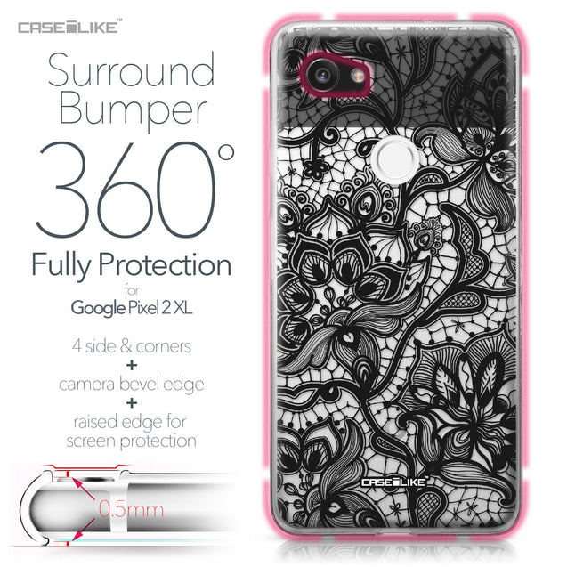 Google Pixel 2 XL case Lace 2037 Bumper Case Protection | CASEiLIKE.com
