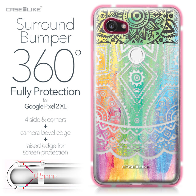 Google Pixel 2 XL case Indian Line Art 2064 Bumper Case Protection | CASEiLIKE.com