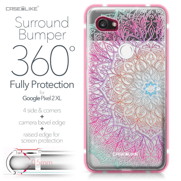 Google Pixel 2 XL case Mandala Art 2090 Bumper Case Protection | CASEiLIKE.com