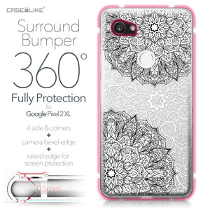 Google Pixel 2 XL case Mandala Art 2093 Bumper Case Protection | CASEiLIKE.com